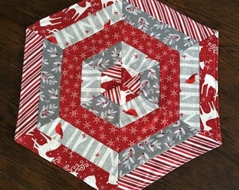 Christmas Hexagon Table Mats REDUCED