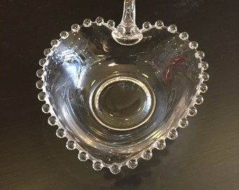 Candlewick Heart Shaped Candy Dish