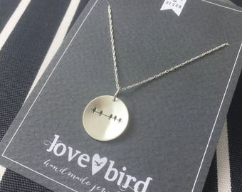 Silver Birds on a Wire Necklace (large)