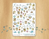 Watercolor Stickers For Winter Time - Perfectly Fitting the November Colors of Erin Condren Life Planners : Owls, hedgehogs and co.