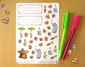 34 Stickers with Theme Alice in Wonderland : all made with watercolor
