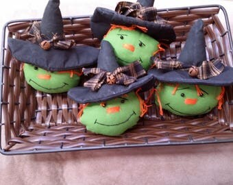 Halloween witch - Halloween decor - Halloween decorations- primitive witch bowl fillers- Halloween bowl fillers - witch decor- bowl fillers