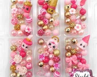 Shopkins Season 7 Princess Party Pack, Shopkins DIY Bracelet Kits, Shopkins Jewelry, Party Favors