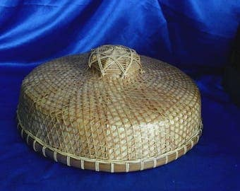 Vintage Chinese Coolie Bamboo Hat