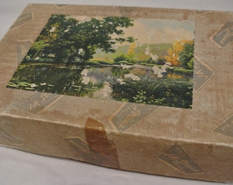 Vintage Wood Puzzle, J.K. Straus Puzzle #226, Tranquil Water, Retro Puzzle, Over 500 Piece Puzzle, Wooden Jigsaw Puzzle, Interlocking Puzzle