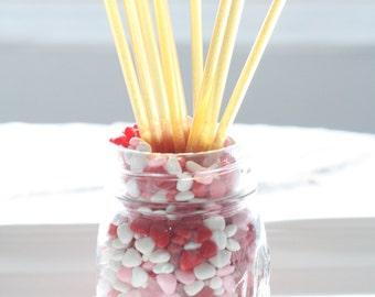 Chocolate Or Regular Honey Sticks Valentines All Natural Treat 12pk
