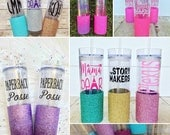 Glitter Dipped Skinny Tumbler, CREATE YOUR OWN, Glitterdipped Tumbler, Ombre Tumbler, Personalized Tumbler, Party Cup, Bachelorette,Sorority