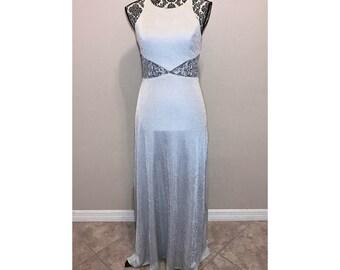 Vintage Silver Prom Dress