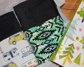 CLEARANCE SALE!! SET of 2  Baby Blanket, Minky Baby Blanket,Gender Neutral, Nursery Bedding, Stroller Blanket