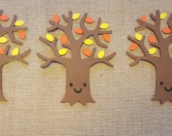 Fall Tree Die Cut Set of 3