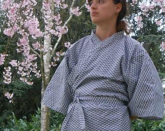 Jacket Kimono - geometric - handmade