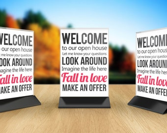 Printable  Open House  Announcement sign, yard Sign, signboard open house,  printable pdf  INSTANT DOWNLOAD
