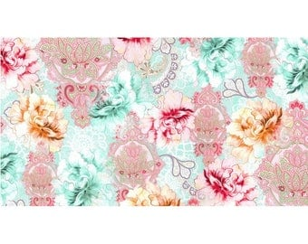 Flower Burst by Michael Miller - Flower Burst Sorbet - Cotton Woven Fabric