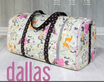 Dallas Vintage Duffel - Swoon Patterns - Bag Pattern