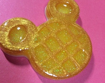 Mickey Waffle Brooch or necklace