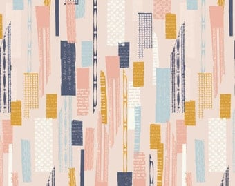 Blocks Collage Print Cotton Quilting and Patchwork Fabric - Fat Quarter