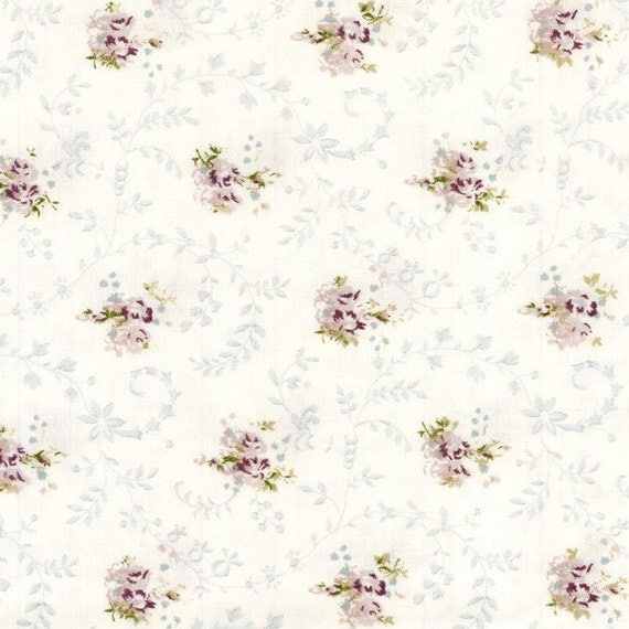 Au maison oilcloth emily lavender flower coated cotton for Au maison oilcloth uk