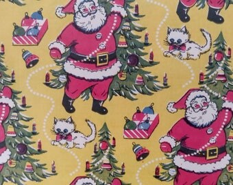 5 x Vintage Christmas Wrapping Paper  ~ scrap booking paper ~ decoupage paper ~ decorative paper ~ Santa ~ reindeers ~ candles