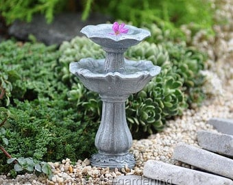 Double Birdbath for Miniature Garden, Fairy Garden