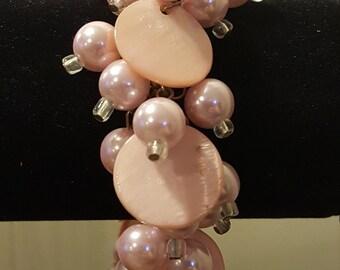 Vintage Pink Pearl Handmade Bracelet