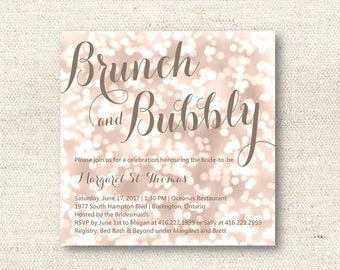 Bokeh Bridal Shower Invitation | DIGITAL FILE