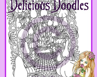 Pumpkins and Squashes Galore! Colouring Page, Coloring Page, Digital Stamp