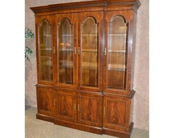 Vintage Drexel Traditional Style Mahogany China Cabinet