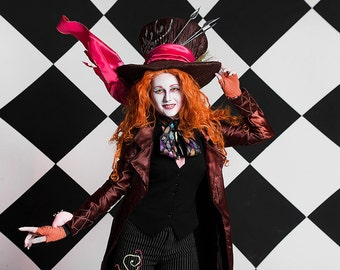 Mad Hatter costume women adult Alice In Wonderland cosplay Johnny Depp fashion