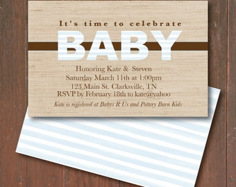 baby shower invitation country baby shower burlap baby shower invitation