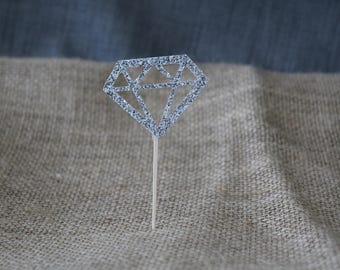 Diamond Ring Engagement Party Cupcake Toppers
