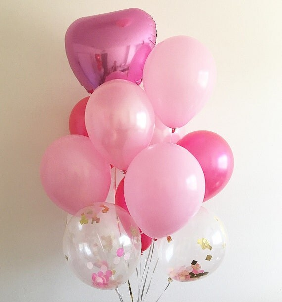 Pink balloon bouquet cake smash props first birthday