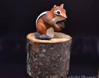 Chipmunk, Chipmunk Sculpture, Polymer Clay Sculpture, Clay Art, Clay Sculpture, Sculpture, Wildlife Art, OOAK Sculpture, Animal Sculpture