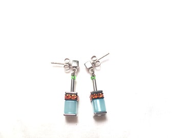 925 sterling silver earrings with gems