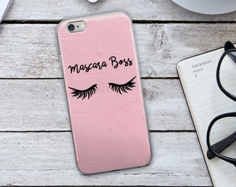 Mascara Boss iPhone Case - Mascara Boss - Makeup iPhone Case - Eyelashes iPhone Case - Eyelashes - Makeup - iPhone Case - Gift for Her