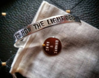 Leonard Cohen Anthem bracelet - That's How The Light Gets In