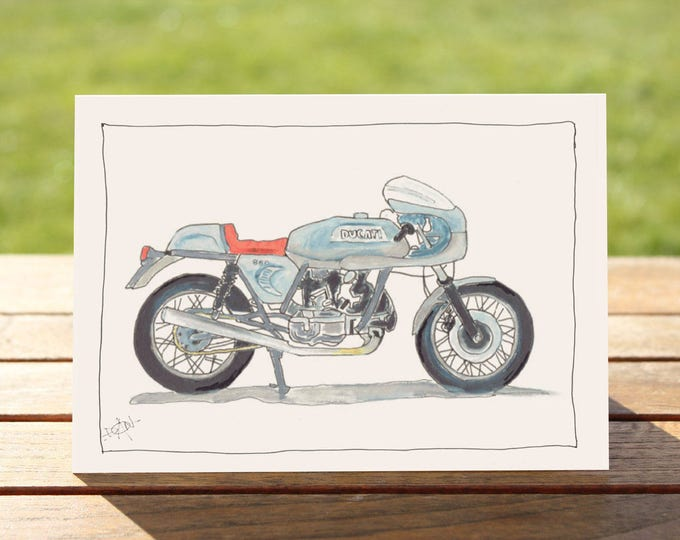"Motorcycle Gift Card Ducati 860 GT | A6 - 6"" x 4""  / 103mm x 147mm  