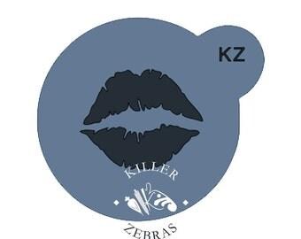 Lipstick Kiss Stencil