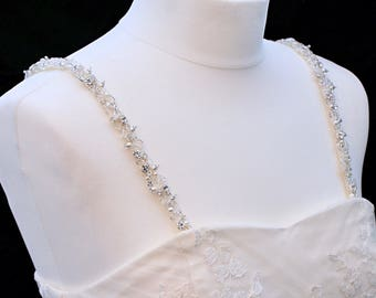 Sparkly Beaded Attachable Bridal Straps - CHERYL
