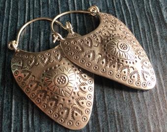 Long silver earrings, long heart silver earrings, abstract silver earrings, modern thin silver earrings