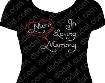 In Loving Memory of Mom Rhinestone T-Shirt