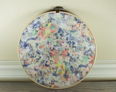 SALE*** Floral Watercolor| Fabric Wall Art in 9x9 Wooden Embroidery Hoop | Home Decor | Office Decor | Nursery Decor