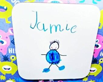 Your child's artwork coaster