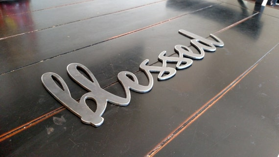 Blessed Metal Sign For Home Decor Wall Signs Gifts
