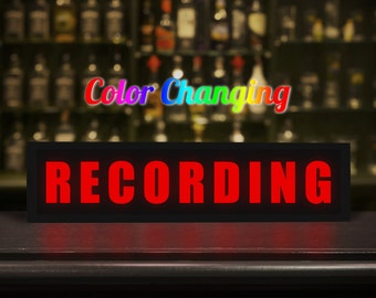 Recording Sign, Recording Light, Recording Light Up Sign, Business Sign, On Air Sign, On Air, Recording, On Air Recording