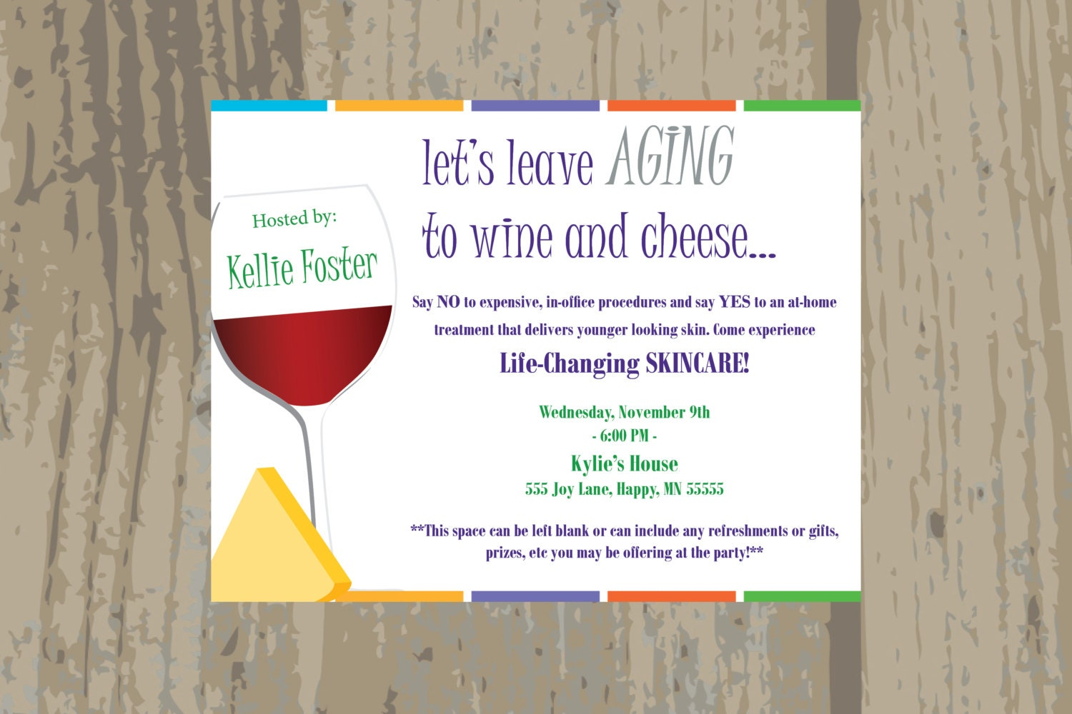 Rodan and Fields Launch Party Invitation / Rodan Fields Wine