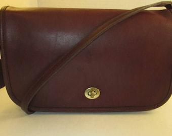COACH Vintage Burgundy Leather Convertible Clutch/Shoulder Handbag