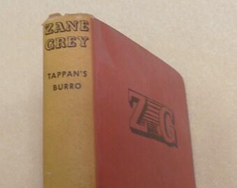 Tappan's Burro Zane Grey Vintage book Antique book Collectible book American west book 1920s book