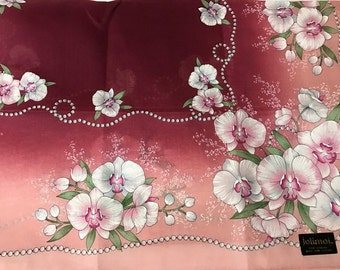Vintage Handkerchief Sweet Orchid Flower from Japan