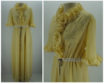 Vintage 50s robe, 50s does 30s robe, 1950s dressing gown, vintage dressing gown