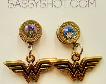 Wonder Woman Bullet Earrings